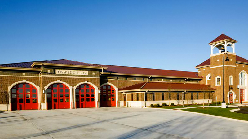 Oswego Fire Station Snap Clad Metal Sullivan Roofing